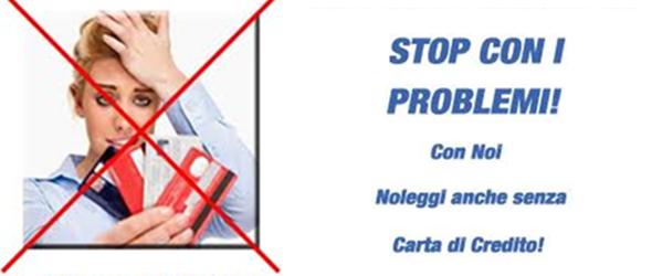 Noleggio senza carta di credito Milano